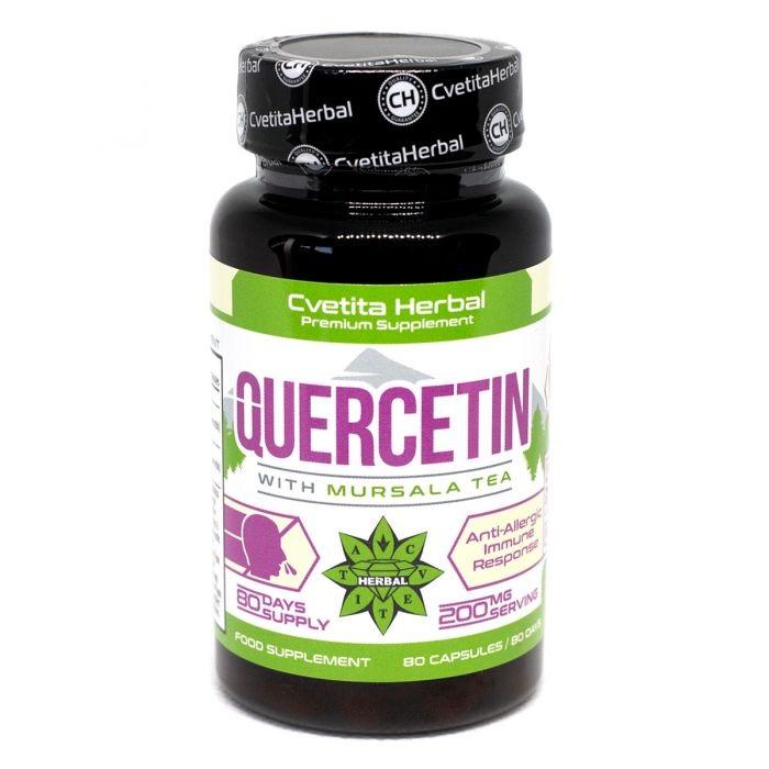 Cvetita Herbal Quercetin With Mursala Tea 200 Mg 80caps