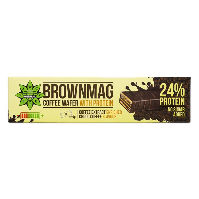 Cvetita Herbal Brownmag Coffee протеинова вафла 40g
