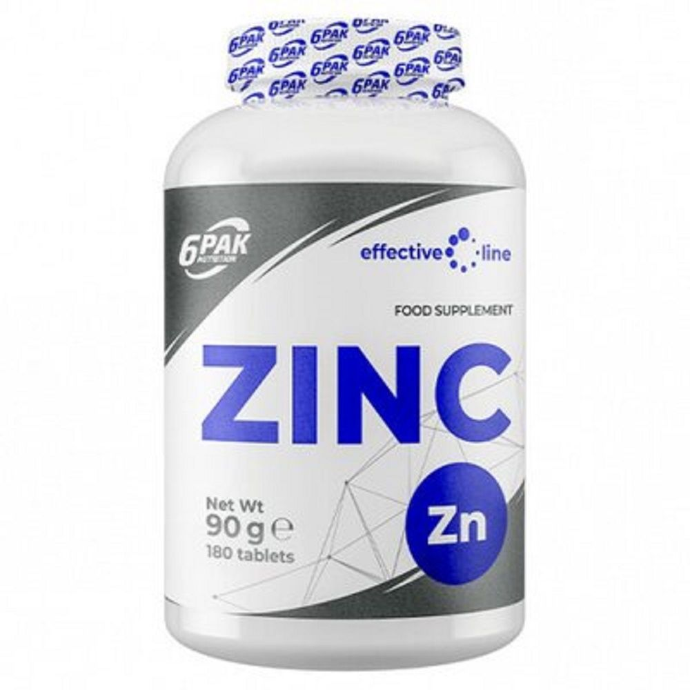 6PAK NUTRITION Effective Line Zinc 180tabs (Цинк)