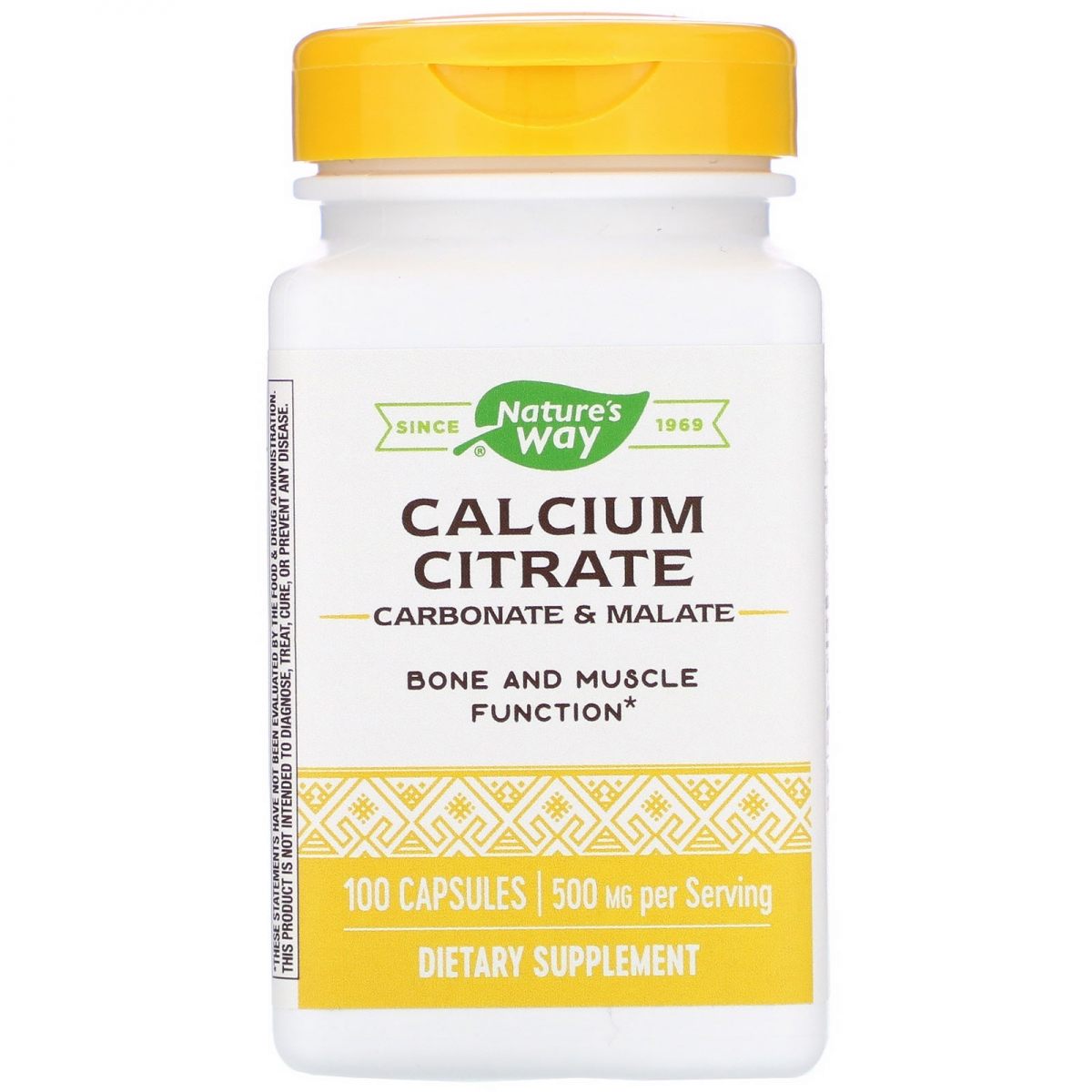 Nature′s Way Calcium Citrate 500mg 100caps
