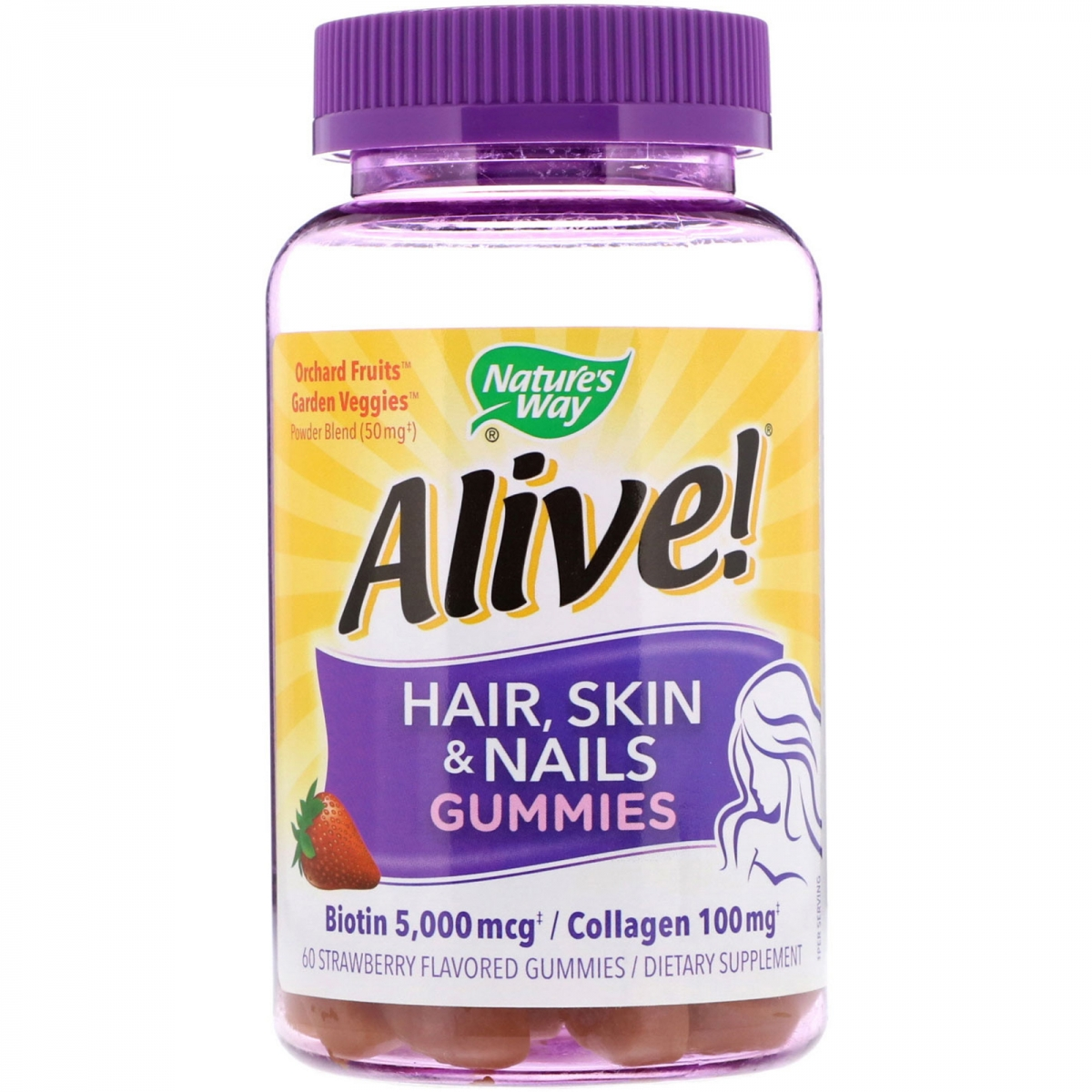 Nature′s Way Alive! Hair, Skin & Nails Multi-vitamin 60caps