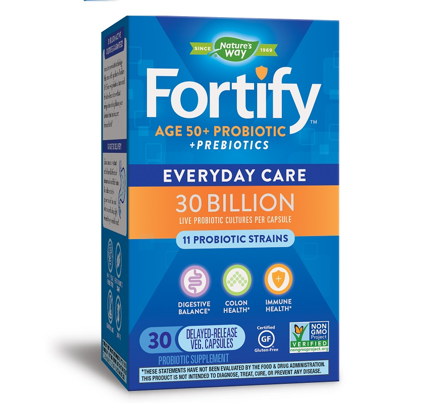Nature′s Way Fortify Age 50+ 30 Billion Probiotics 30caps