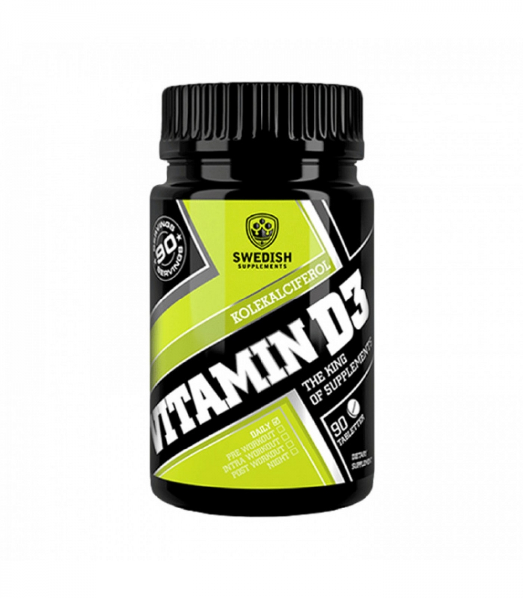 SWEDISH Supplements Vitamin D3 4000iu 90tabs