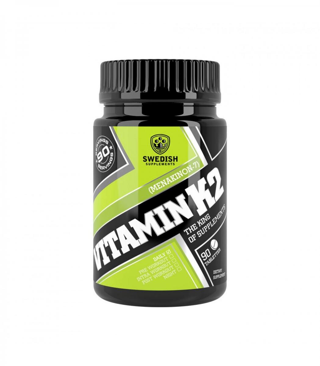 SWEDISH Supplements Vitamin K2 200mcg 90tabs
