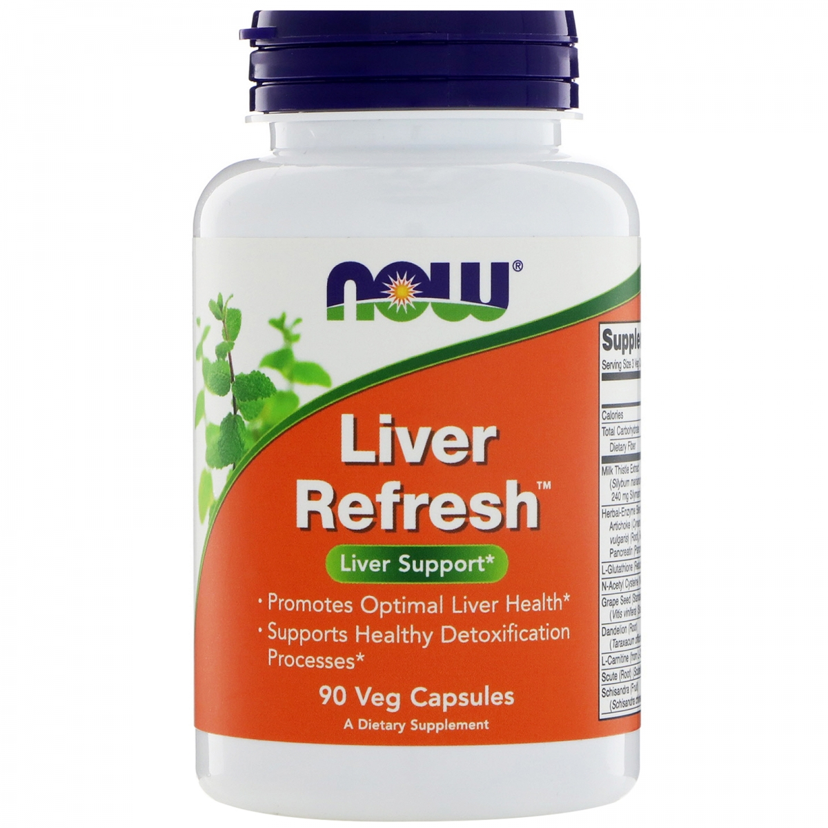 NOW Liver Refresh Detoxifier & Regenerator 90caps