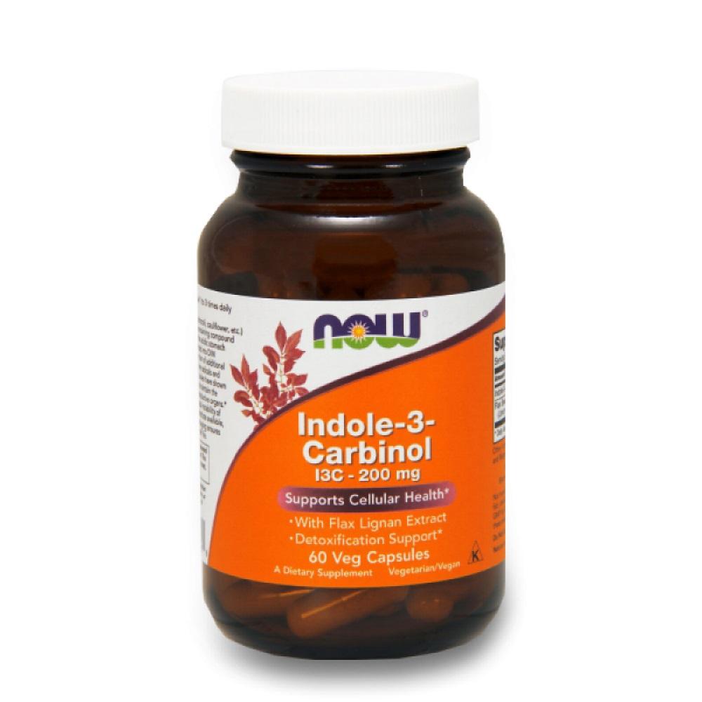 NOW Indole-3-carbinol (i3c) 200mg 60caps