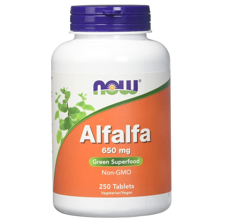 NOW Alfalfa 10 Grain 650mg 250tabs