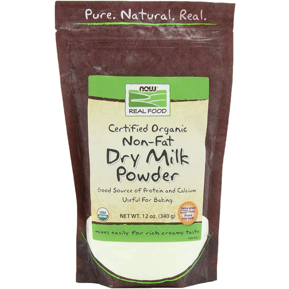 NOW Organic Dry Milk With Protein & Calcium Non Fat 341g
