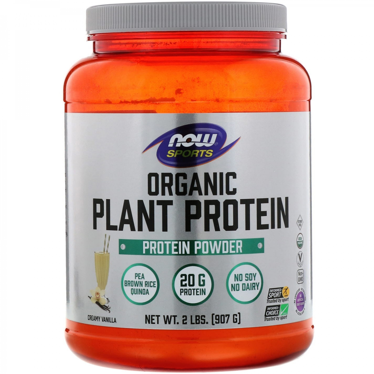 NOW Organic Plant Protein 908g