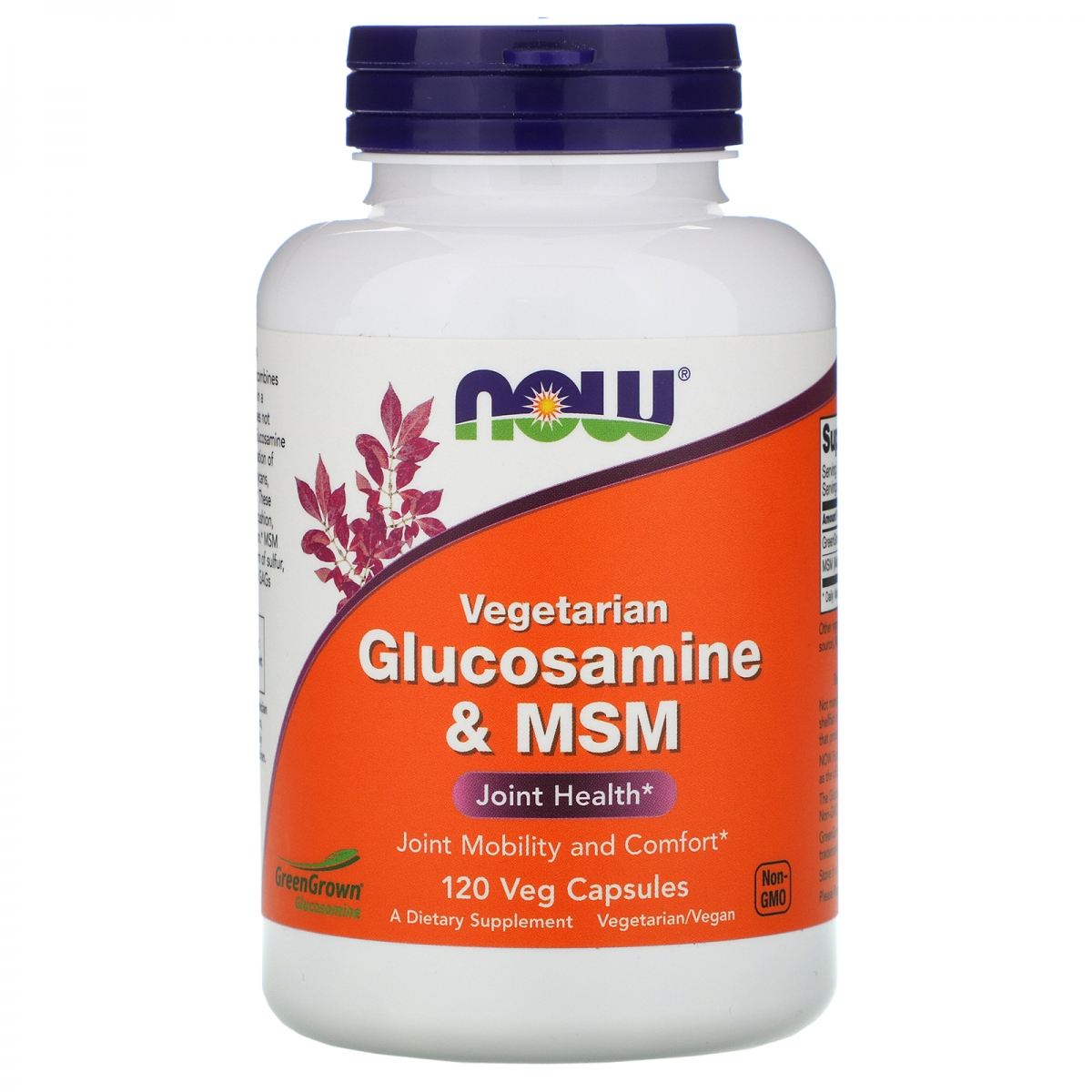 NOW Vegetarian Glucosamine & Msm 120caps