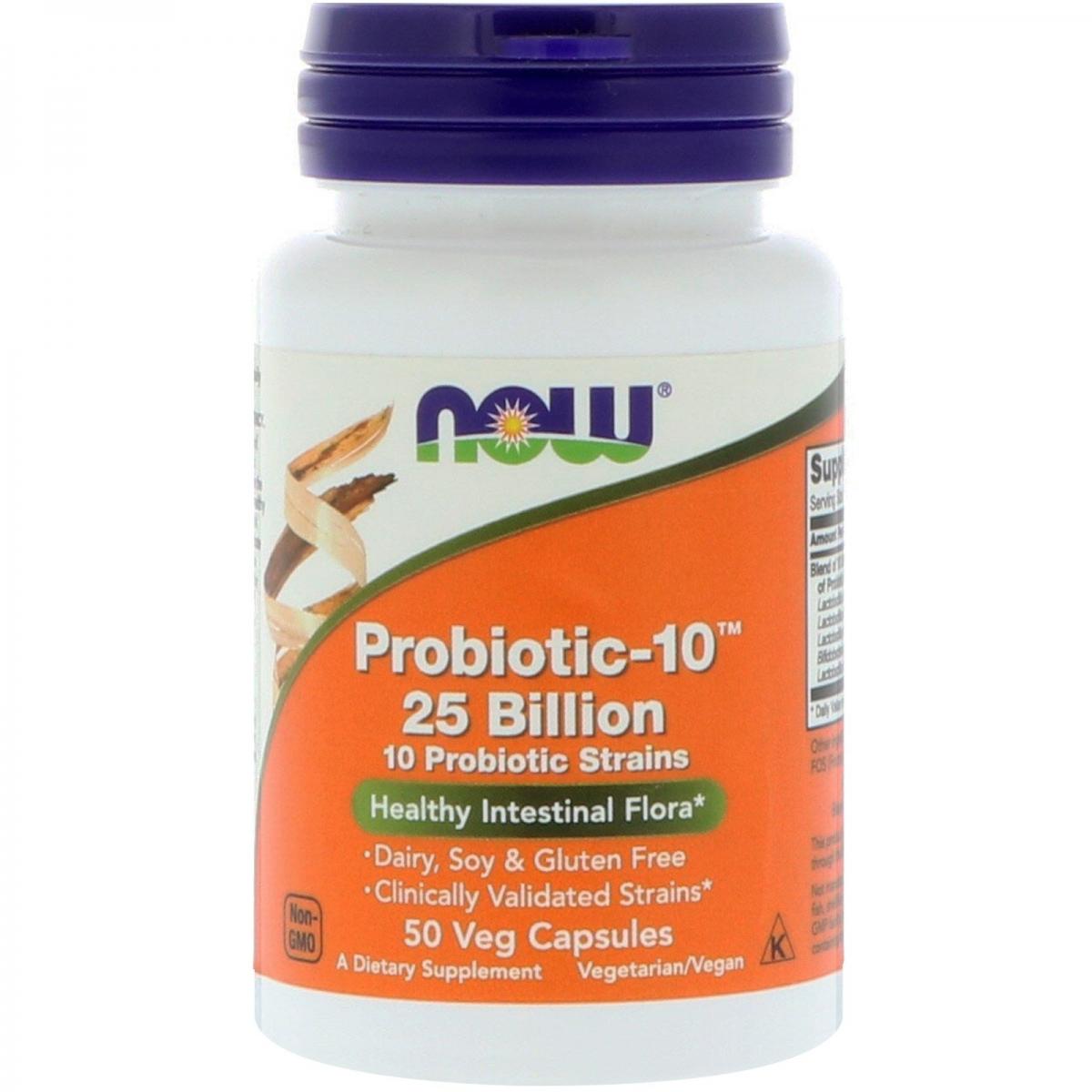 NOW Probiotic-10 25 Billion 50caps