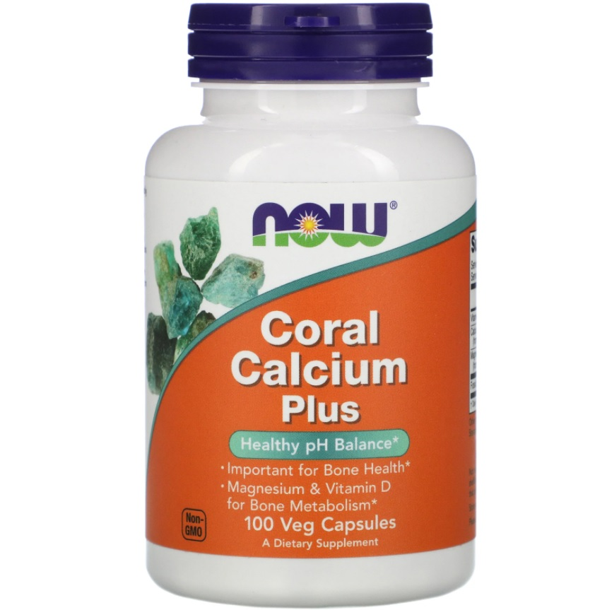 NOW Coral Calcium Plus 100caps