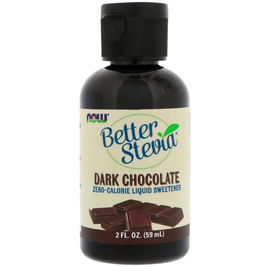 NOW Better Stevia Dark Chocolate 59ml