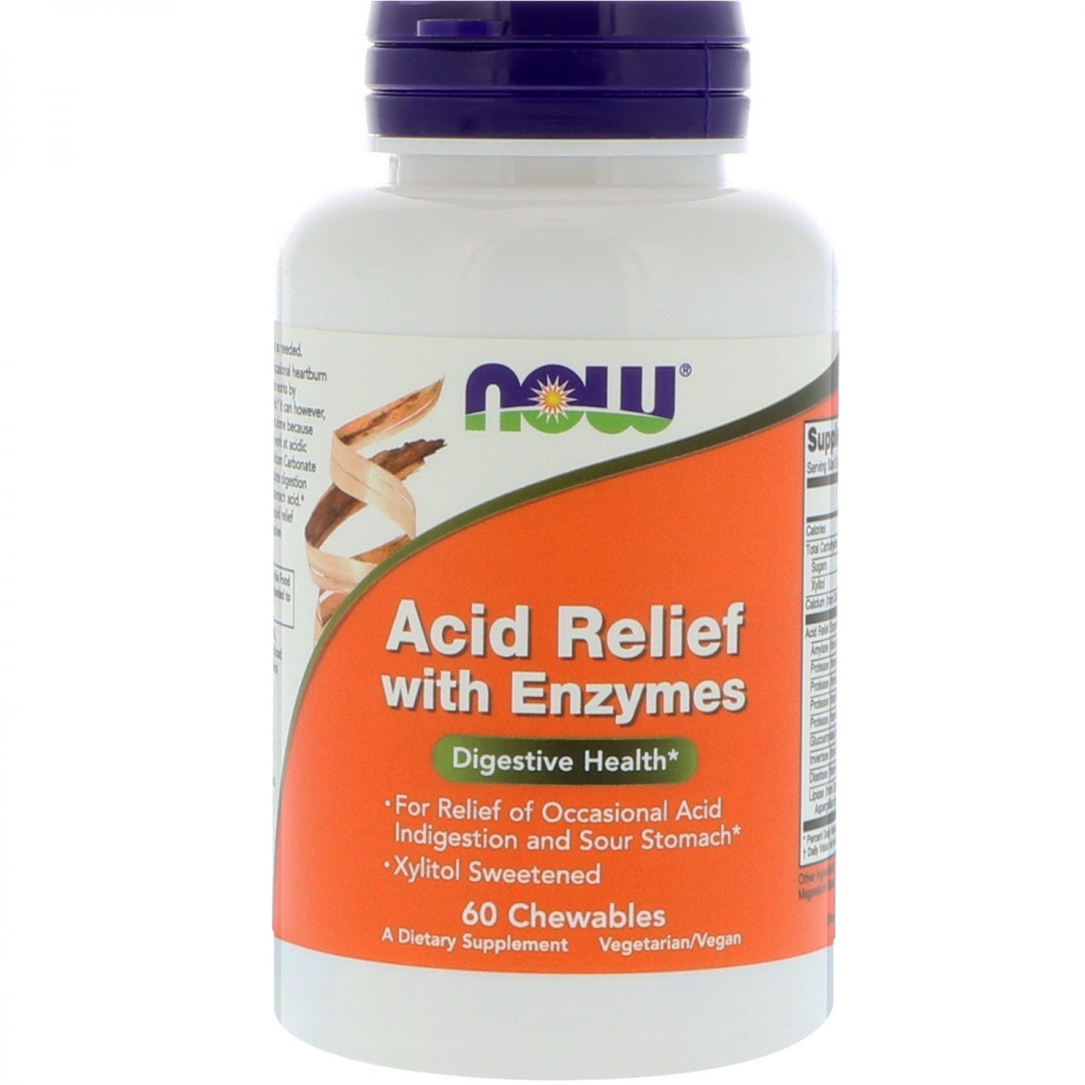 NOW Acid Relief With Enzymes 60tabs