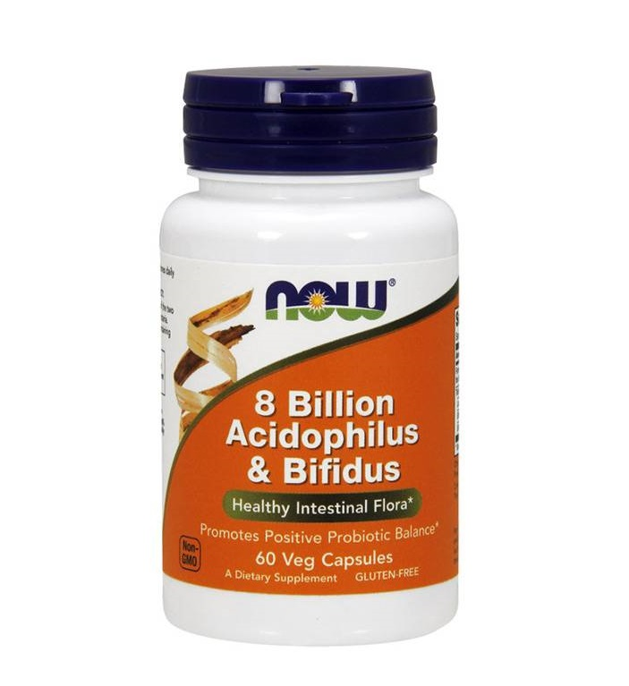 NOW 8 Billion Acidophilus & Bifidus 60caps