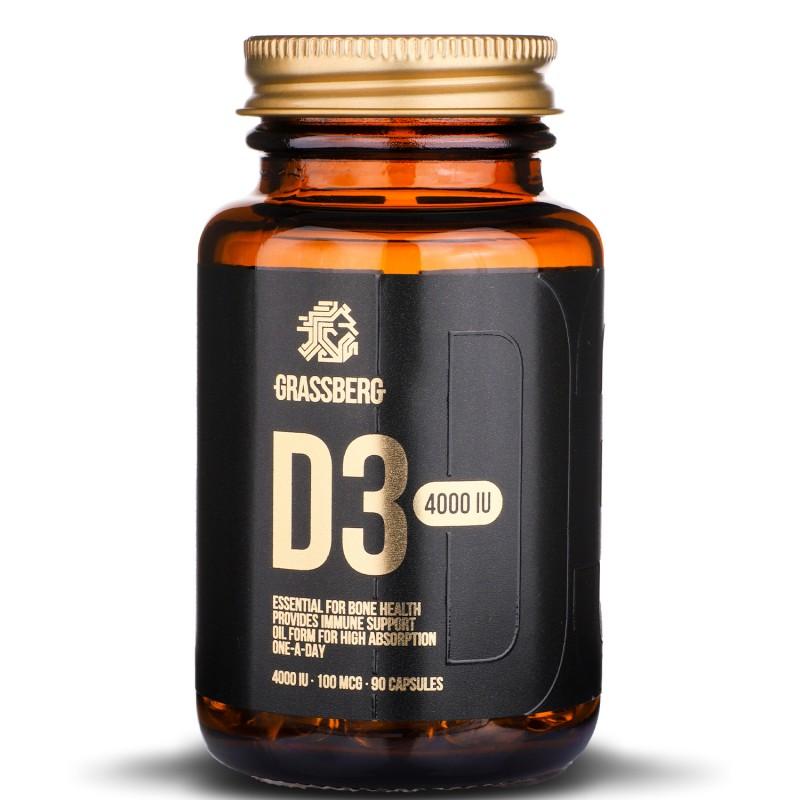 Grassberg Vitamin D3 4000 90caps