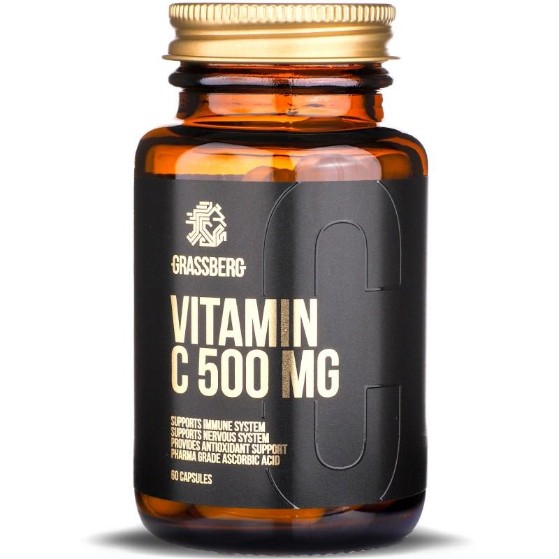 Grassberg Vitamin C 500mg 60caps