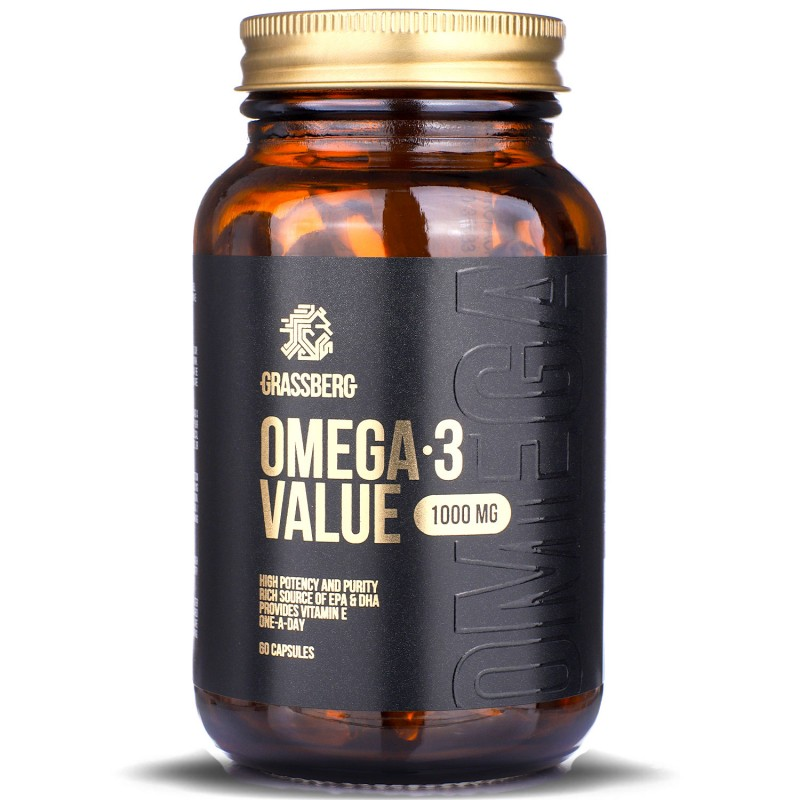 Grassberg Omega-3 Value 1000mg 60caps