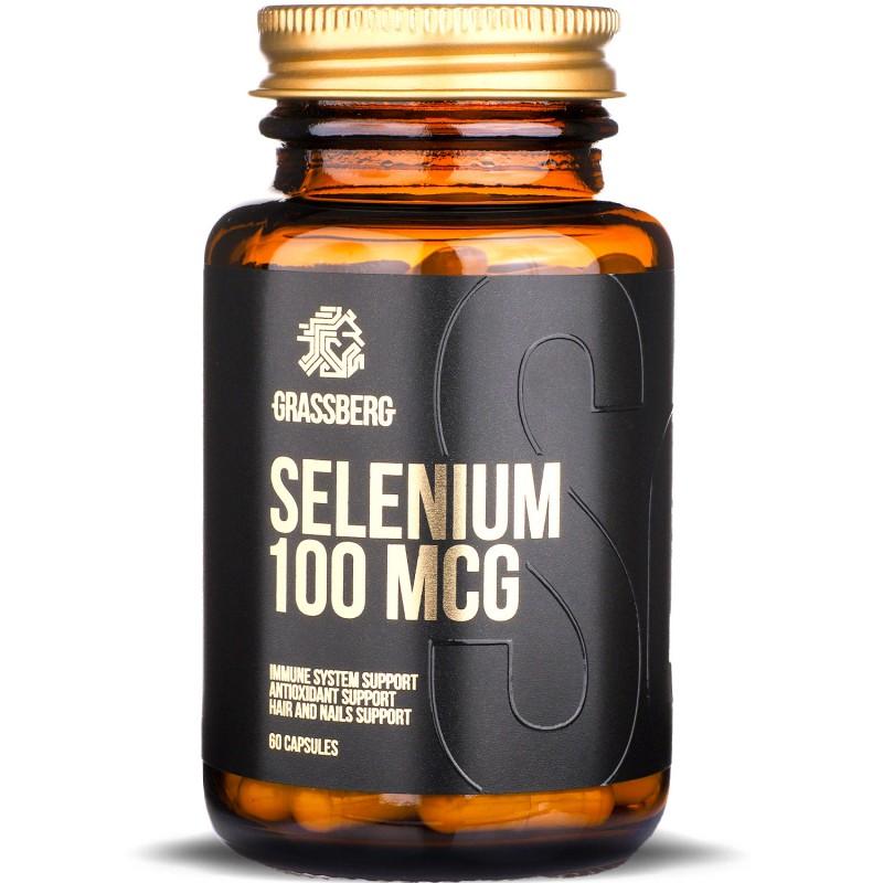 Grassberg Selenium 100mcg 60caps