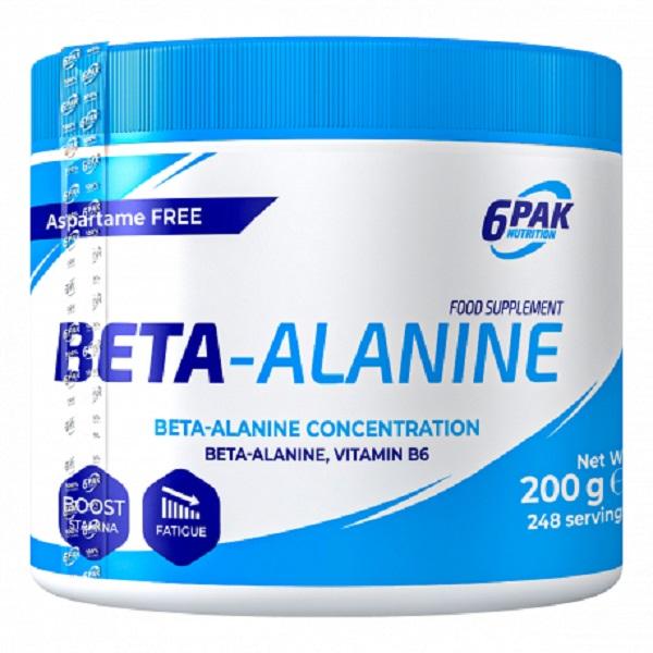 6PAK NUTRITION Beta-alanine 200g (Бета-аланин)