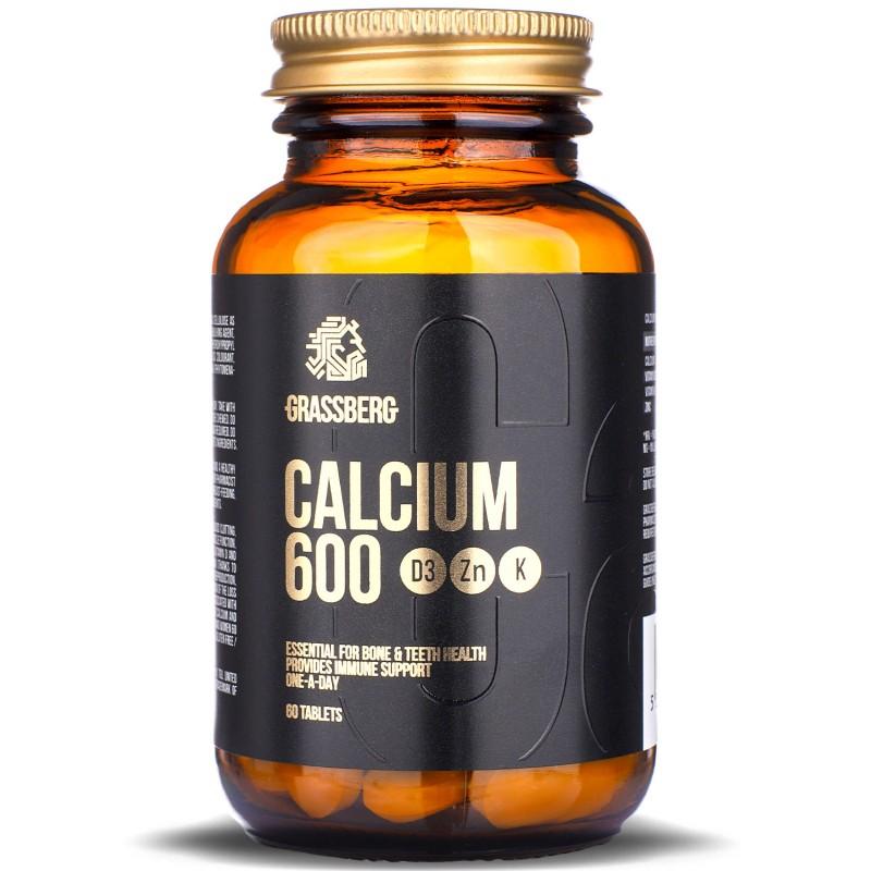 Grassberg Calcium 600+d3+zn+k 60tabs