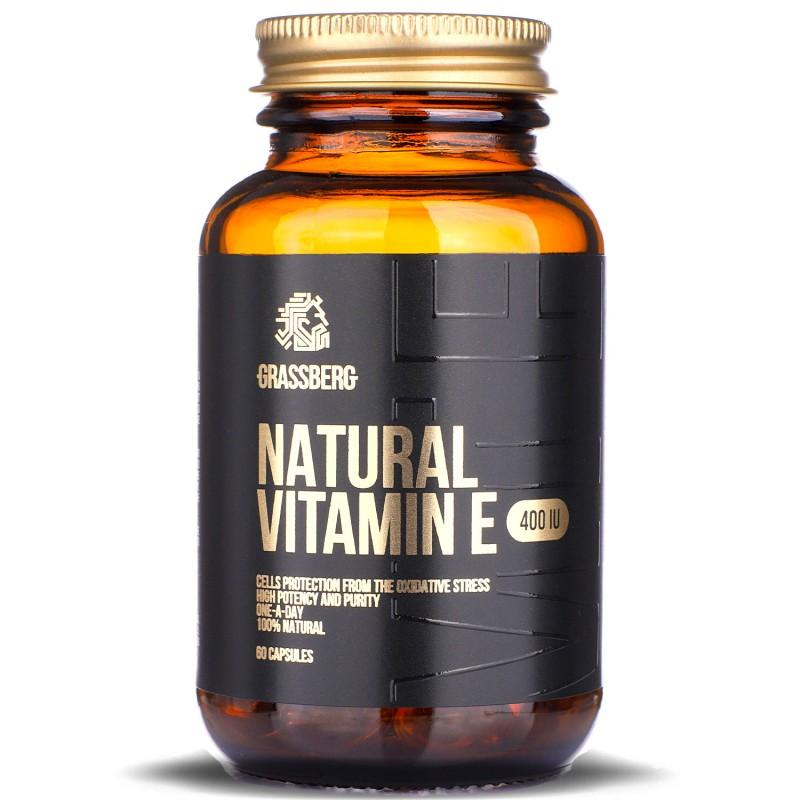 Grassberg Vitamin E 400iu Natural 60caps