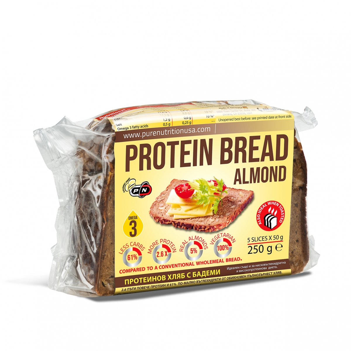 Pure Nutrition Protein Bread 250g