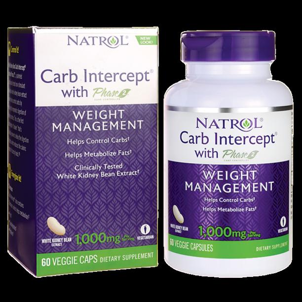 Natrol White Kidney Bean Carb Intercept 60 Caps