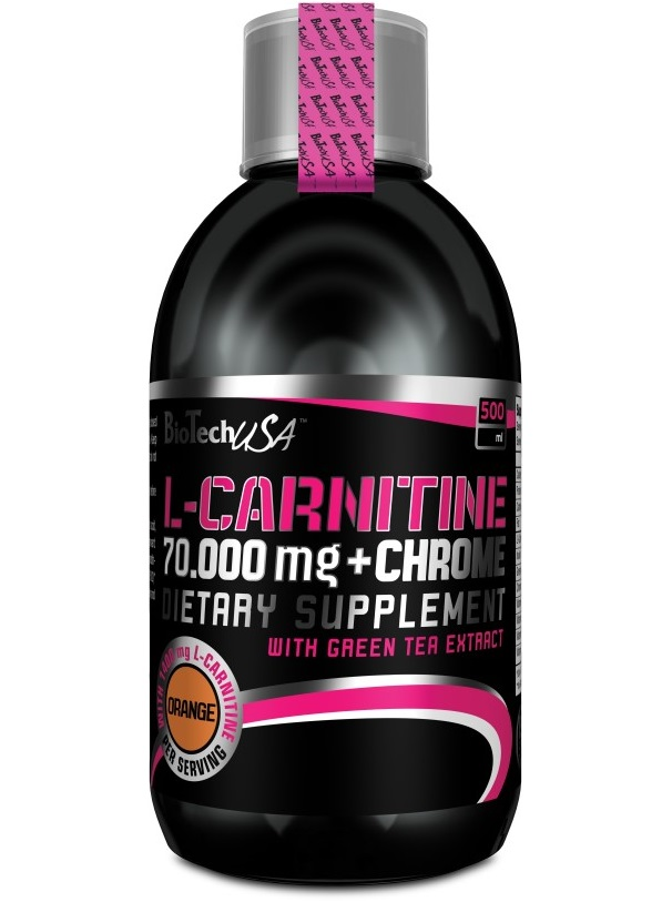 BioTech USA L-carnitine + Chrome 70.000 Liquid / 500ml